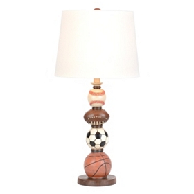 Stacked Sports Balls Table Lamp