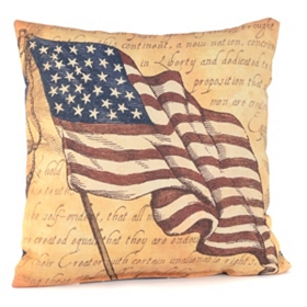 Patriotic Flag Outdoor Pillow