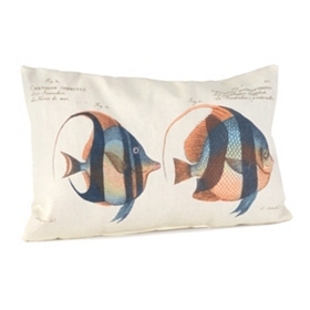 Fishy Fishy Outdoor Pillow