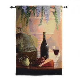 Elegant Afternoon Wine Tapestry Set