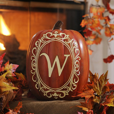 Monogram W Pumpkin