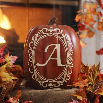 Monogram A Pumpkin