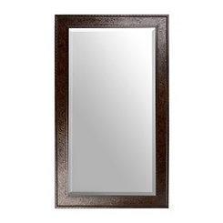 Ornate Tortoise Framed Mirror, 32x56 in.