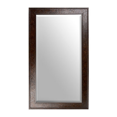 Ornate Tortoise Framed Mirror, 32x56 in.