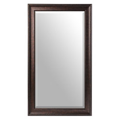 Bronze Beaded Frame Mirror, 32x56 in.