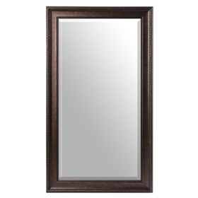 Bronze Beaded Frame Mirror, 32x56