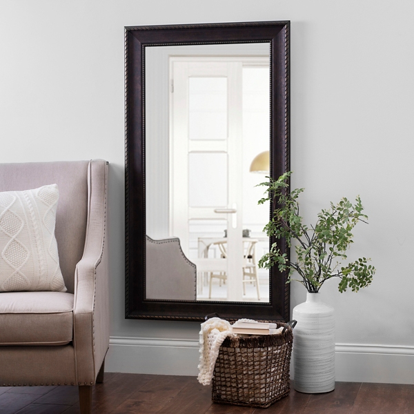 Bronze Rope Framed Wall Mirror, 32x56 In.