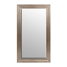 Antique Silver Frame Mirror, 32x56