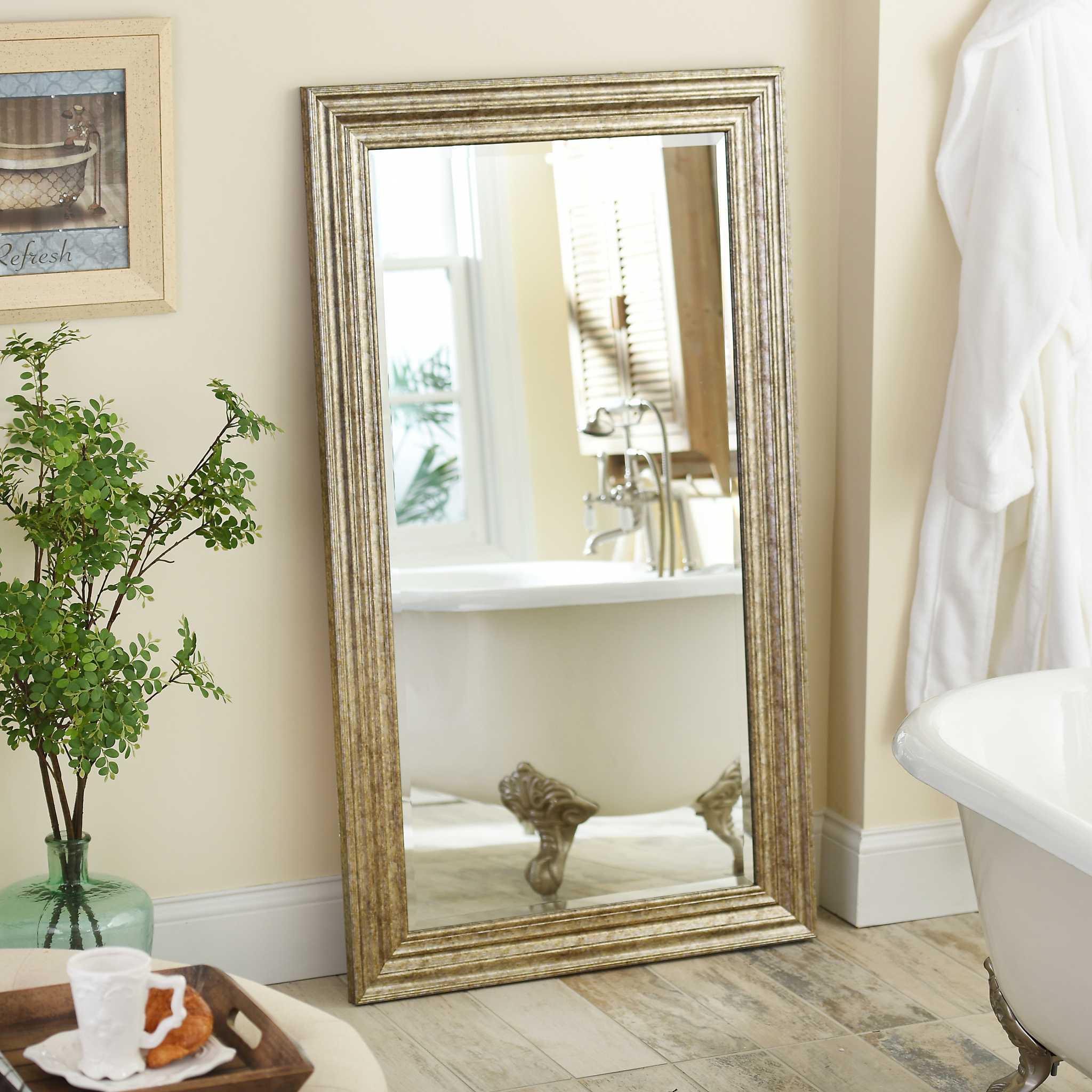 Antique Silver Framed Mirror 32x56 In Kirklands
