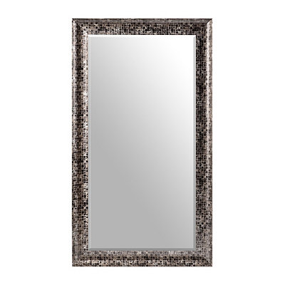 Black Mosaic Frame Mirror, 32x56