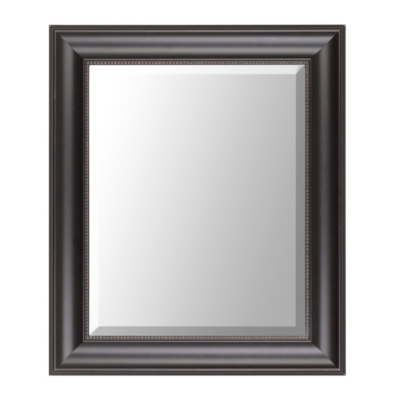 Black Classic Framed Mirror, 22x26