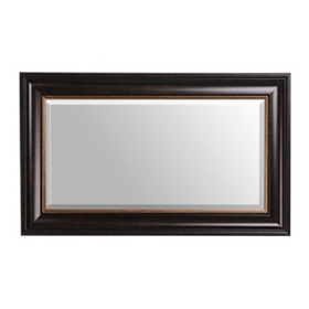 Dark Bronze Framed Mirror, 18X30