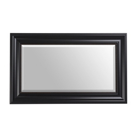 Black Bead Framed Mirror, 18X30