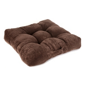 Chocolate Brown Plush Floor Cushion