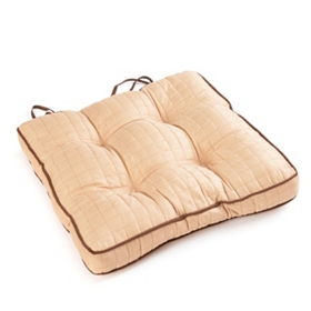 Taupe Quilted Chair Pad