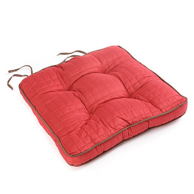 Red Quilted Chair Pad