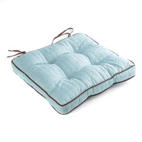 Light Blue Quilted Chair Pad