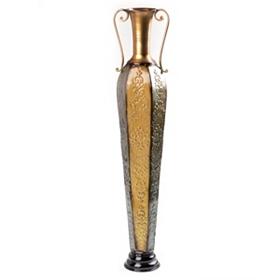 Trumpet Verdi Metal Floor Vase