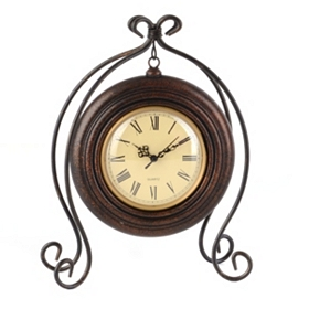 Suspended Bronze Table Clock