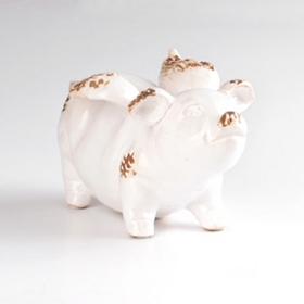 Ceramic Flying Pig Statue