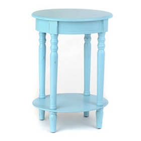 Turquoise Oval Accent Table