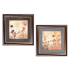 Tibbits Silhouette Framed Art Print, Set of 2