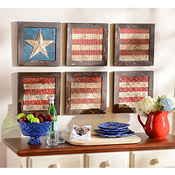 Glory American Flag Plaque, Set of 6