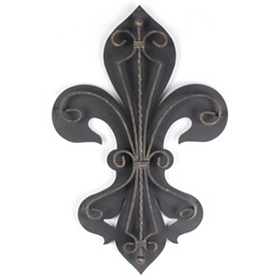 Fleur-de-Lis 2-Layer Metal Wall Art