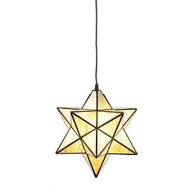 Crushed Glass Star Pendant Light