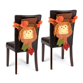 Scarecrow Boy Chair Cover, Set of 2