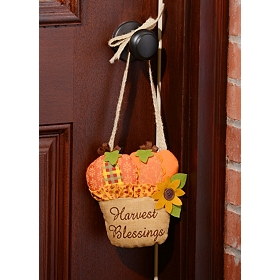 Harvest Blessings Door Hanger