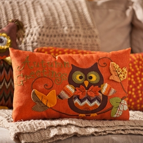 Autumn Greetings Accent Pillow