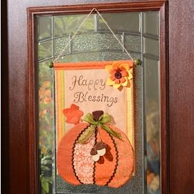 Pumpkin Tapestry Wall Hanger