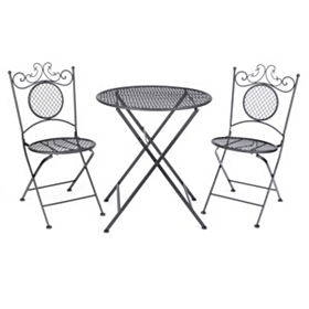 Black Bistro 3-pc. Folding Patio Set