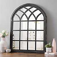 Ava Black Arch Wall Mirror