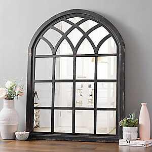 Ava Black Arch Wall Mirror