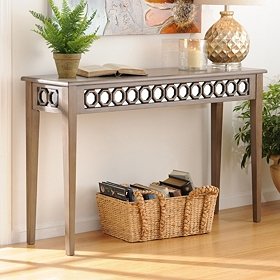 Mirrored Octagon Console Table