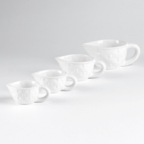 White Measuring Cup, Set of 4