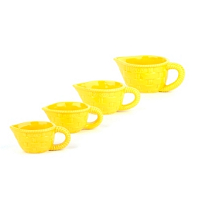 Sunny Yellow Measuring Cup, Set of 4