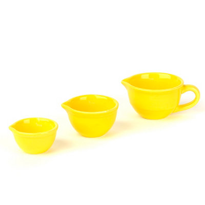Sunny Yellow Mini Mixing Bowl, Set of 3