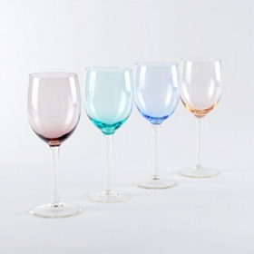 Colors of  Spring White Wine Glass, Set of 4