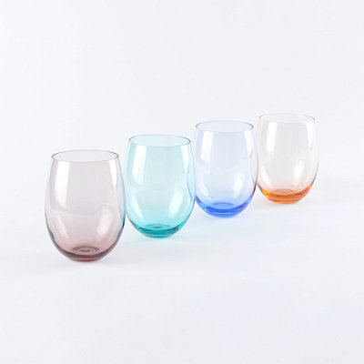 Colors of Spring Stemless Glass, Set of 4