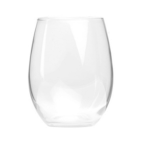 Clear Stemless Vino Goblet, Set of 4