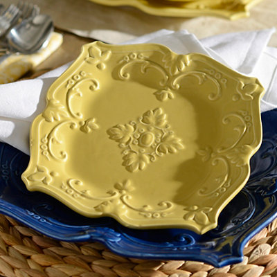 Yellow Sweet Olive Salad Plate