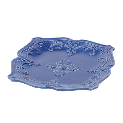 Blue Sweet Olive Salad Plate