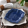Blue Sweet Olive Salad Plate