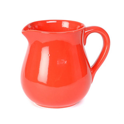 Cherry Red Ceramic Pitcher