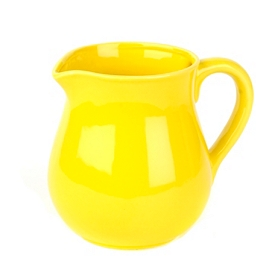 Sunny Yellow Ceramic Pitcher