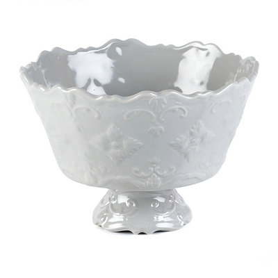 Gray Sweet Olive Serving Bowl