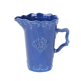 Blue Sweet Olive Ceramic Pitcher